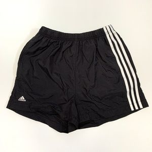 ADIDAS 2001 Black White Stripes Athletic Shorts